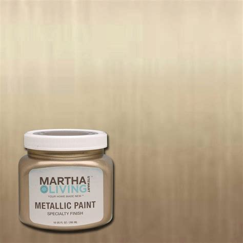 Martha Stewart Living 10 oz. Vintage Gold Satin Metallic