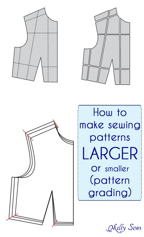 pattern grading by computer how to make a sewing pattern bigger or smaller pattern