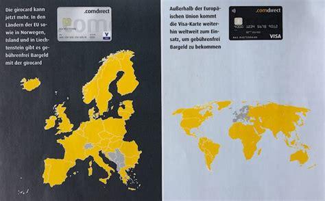 sparda bank kostenlos abheben mit der gratis comdirect kreditkarte und girocard