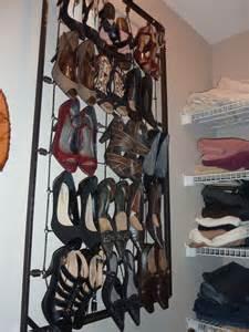 my repurposed crib to hanging shoe rack
