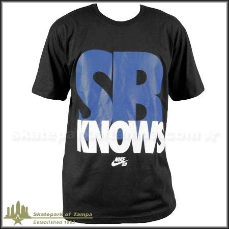 T Shirt Nike Claiborne Knows nike sb knows t shirt in stock at spot skate shop