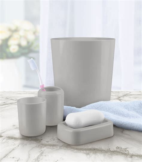 4 bathroom accessory set gray shop your way shopping earn points on tools