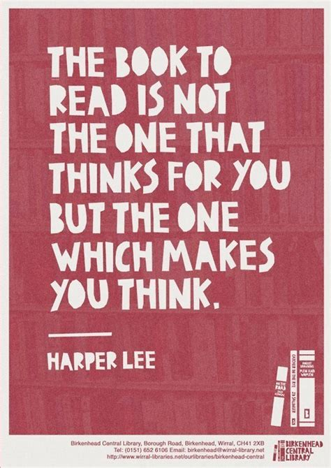 quot the book to read is not the quotes about books on