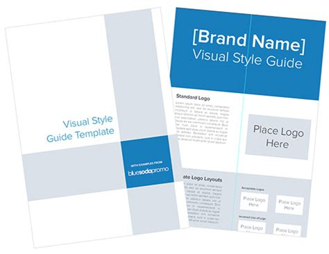 user manual design template visual style guide template for logos blue soda promo