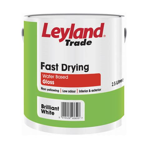 gloss paint leyland trade fast drying water based gloss paint