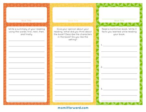Printable Reading Log Bookmarks | reading log bookmark printables mom it forward