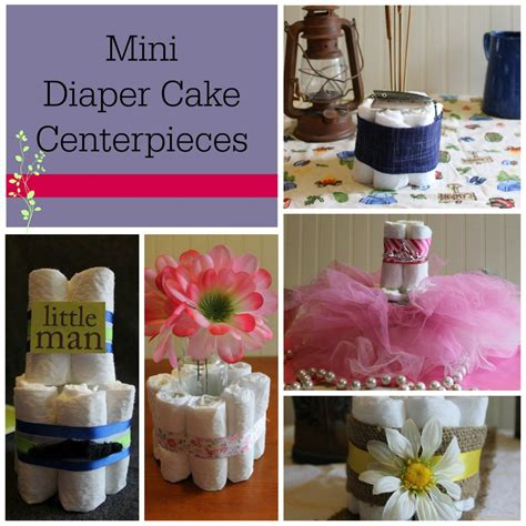 how to make a cake centerpiece for baby shower diy baby shower centerpieces using diapers frugal fanatic