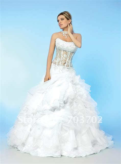 beaded corset wedding dress popular style strapless beaded corset gown organza