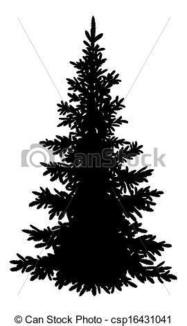 silueta de árbol de navidad dibujo de 225 rbol abeto silueta navidad abeto silueta 225 rbol csp16431041 buscar