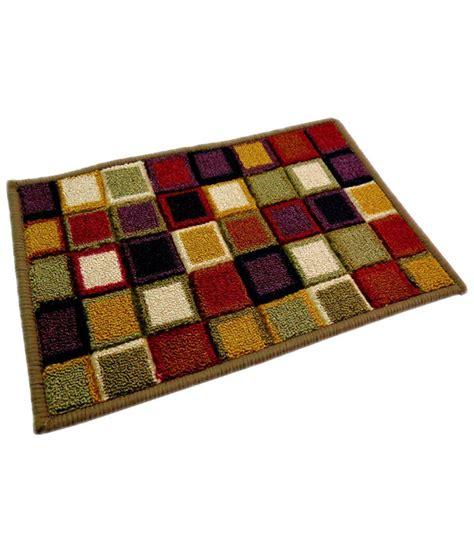 lionsland anti skid floor mat multicolour cotton schenelle