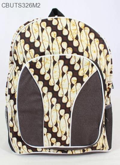 Tas Ransel Motif Batik tas ransel batik mini motif batik klasik tas sekolah