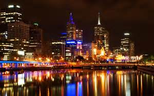 Urban Lights Denver Melbourne City Night Wallpaper 1920x1200 21670