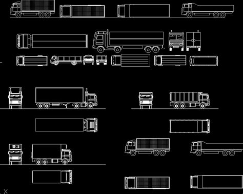 trucks  dwg block  autocad designs cad