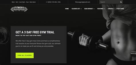 bootstrap themes gym fitness gym website template bootstrap themes