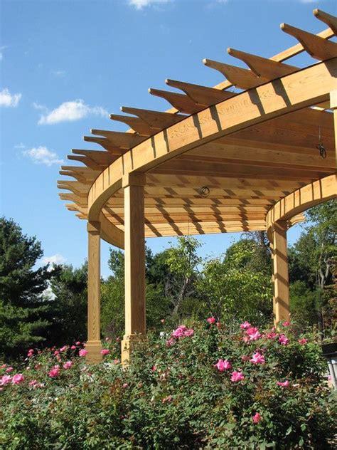 curved pergolas design pictures remodel decor and ideas