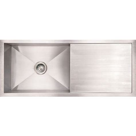 kitchen sinks with drainboard kitchen sinks commercial reversible sink with drainboard brushed stainless steel by noah