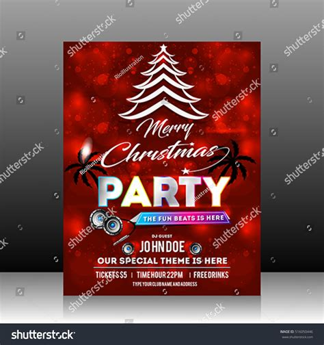 layout for christmas party christmas party flyer design vector illustration stock