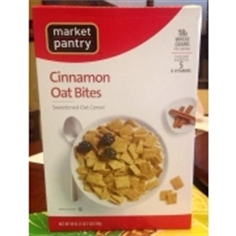 Market Pantry Cereal by Market Pantry Cinnamon Oat Bites Sweetened Oat Cereal Calories Nutrition Analysis More