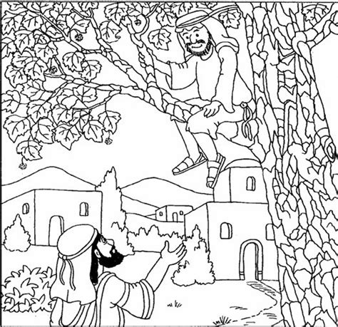 printable coloring pages zacchaeus 66 best zacchaeus crafts images on pinterest zacchaeus
