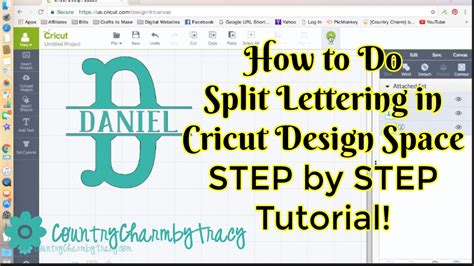 typography tutorial step by step how to do split lettering in cricut design space step