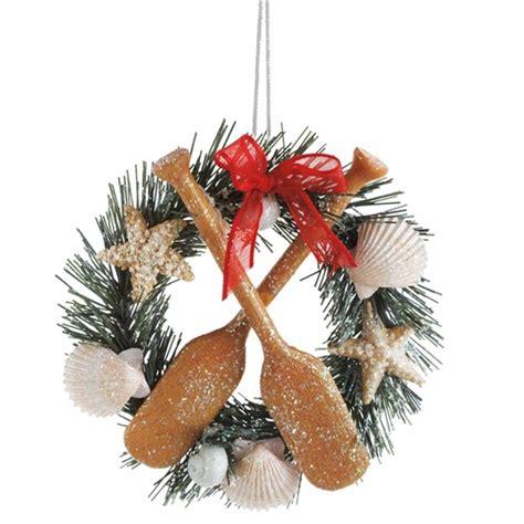 seashell wreath ornament coastal christmas seasons of