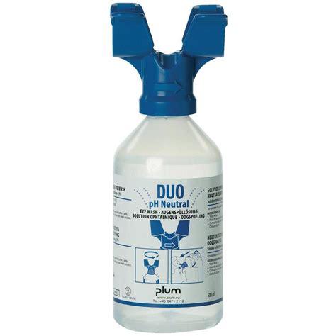 Global Netral 500ml plum br315075 eyewash bottle ph neutral duo 500 ml from