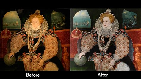 the armada portrait armada portrait returns to greenwich after conservation