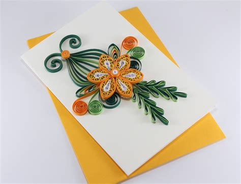 Greeting Card Designs Handmade Paper - handmade quilling birthday card handmade paper greeting card