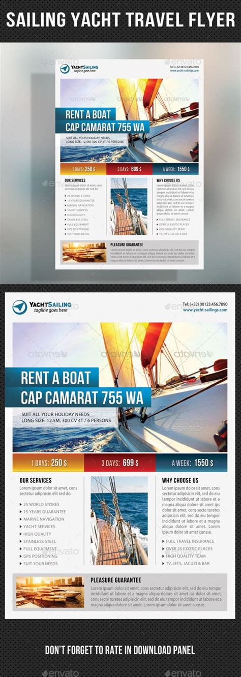 Sailing Yacht Travel Flyer 04 Travel Flyers And Flyer Template Travel Flyer Template