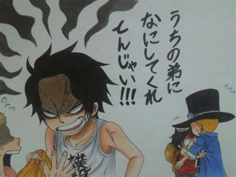 ace from one piece hurt like no other tattoos pinterest one piece luffy sabo ace pesquisa google one piece
