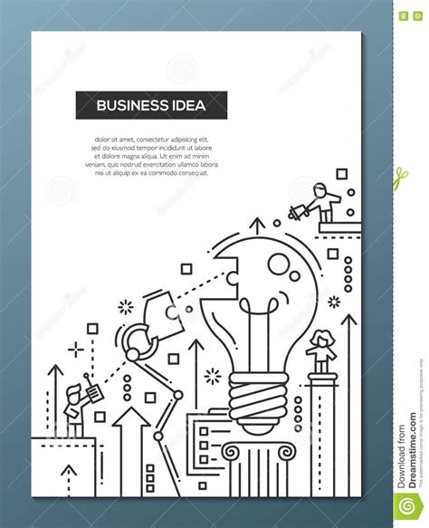 templates for a4 posters business idea line design brochure poster template a4