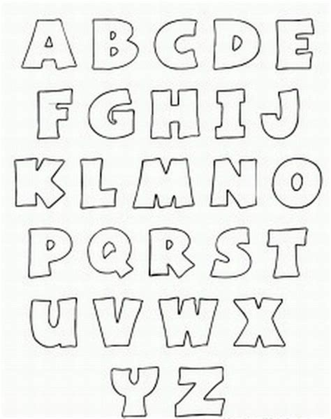 Printable Alphabet Patterns | free printable alphabet stencils printable bubble