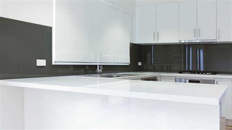 white kitchens grey bench tops glass splashbacks colour geelong splashbacks kolor