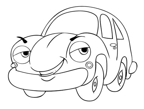 free cartoon cars coloring pages