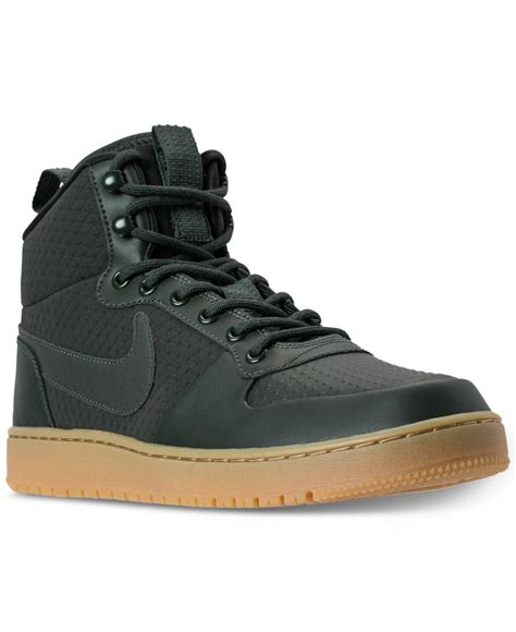 Nike Mid Sneakers Casual lyst nike s court borough mid winter outdoor casual