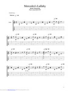 Mercedes Chords Mercedes Lullaby Guitar Pro Tab By Javier Navarrete
