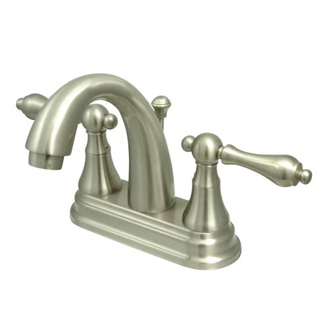 kingston bathroom faucets kingston brass ks7618al english vintage 4 quot centerset