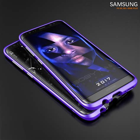 Samsung Galaxy S8 Skin Brushed Metal Bumper Armor Sarung shockproof aluminum metal bumper frame cover for