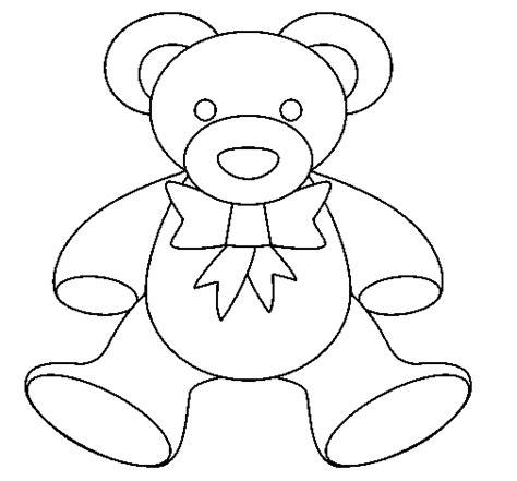 imagenes para dibujar ositos dibujo de osito de peluche para colorear dibujos net