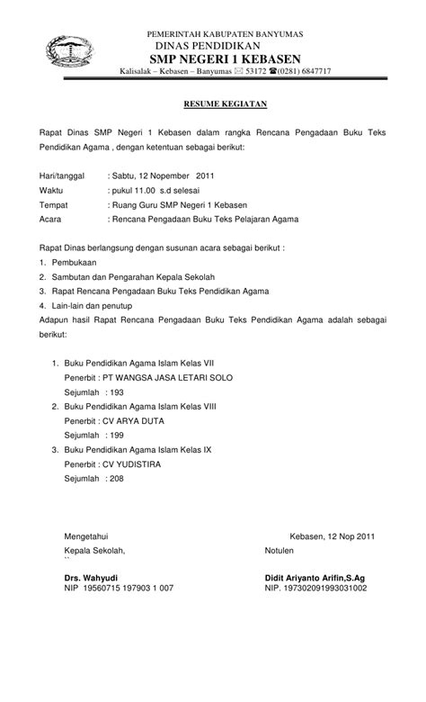 Buat Notulen Rapat by Format Of Resume For 2 Experience Certificate