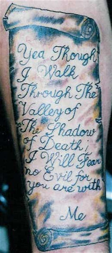 23 psalm tattoo design religious tattoos tattoomagz