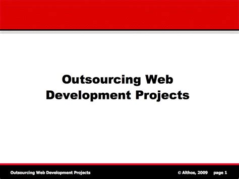 tutorial web project outsourcing tutorial outsourcing web projects