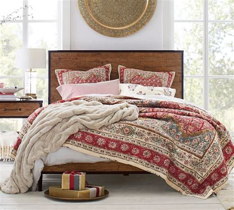 pottery barn comforters and quilts zarina print reversible quilt sham pottery barn