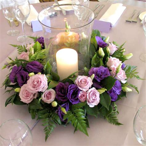 wedding flower centerpieces with candles ipunya