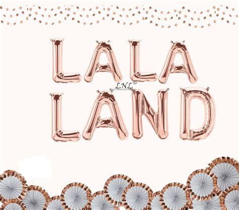 La 16 Gold la la land gold 16 quot foil balloon letters outofmybubble
