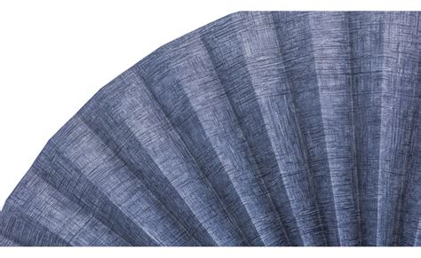 decorative pleated window fans blue denim with hashes pleated decorative fans