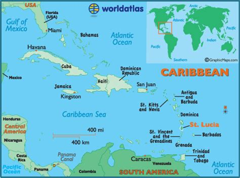 lucia location on world map st lucia map geography of st lucia map of st lucia