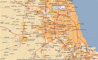 Map Of Chicago Suburbs by Map Of Chicago Area Map Of The World