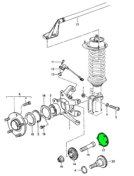 1989 porsche 928 manual transmission hub replacement diagram buy porsche 964 911 1989 1994 964 911 c2 1989 93 wheel hub carrier design 911