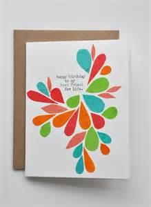 Birthday Cards Through Happy Birthday Birthday Card Best Friend Handmade